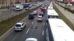 Autokary związkowców blokują Czerniakowską