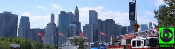 Spacer przez skąpany w słońcu Manhattan