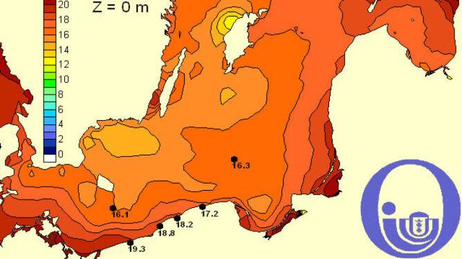 Temperatura Bałtyku/Pracownia Dynamiki Morza, Instytut Oceanografii, Uniwersytet Gdański