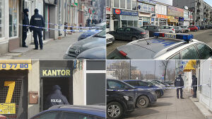 Napad na kantor na Grochowie. Pobili i uciekli. Nic nie ukradli