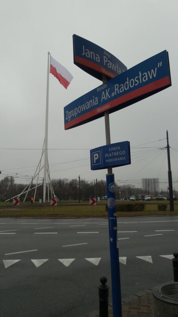 Maszt Wolności na rondzie Radosława Lech Marcinczak / tvnwarszawa.pl