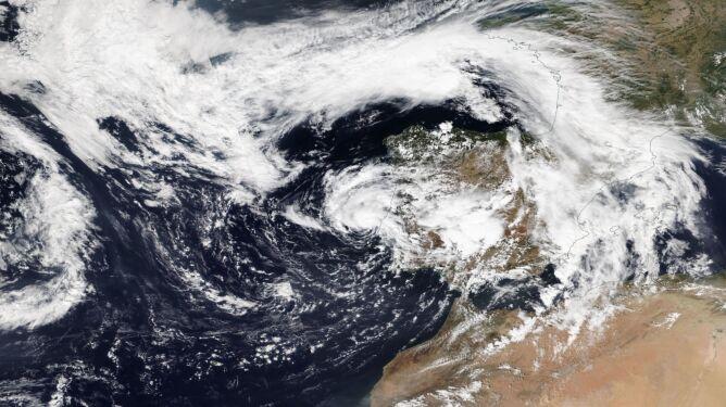 Sytuacja na Atlantyku (NASA Worldview)