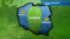 Sucho tylko w centrum i na Śląsku. Poza tym deszcz
