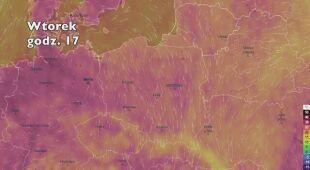 Temperatura w najbliższych dniach (ventusky.com|wideo bez dźwięku)